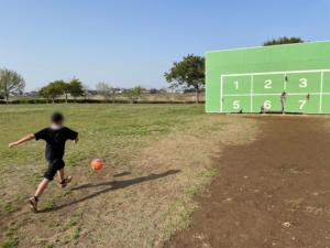 外でのサッカー練習!!